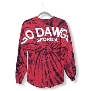 Spirit Long Sleeve Georgia Bulldogs Tie Dye Shirt